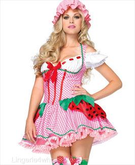 Sexy Costume Divisa Sexy Charlotte Vestito da Fragola con Cuffietta |LA-83788|