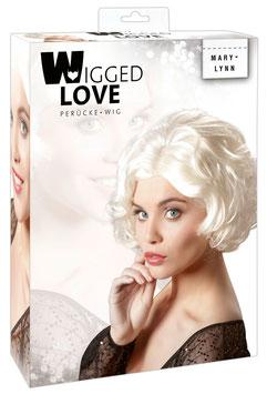 WIGGED LOVE Parrucca MariLynn Capelli a Caschetto Mossi Biondo Platino Vintage |777609|
