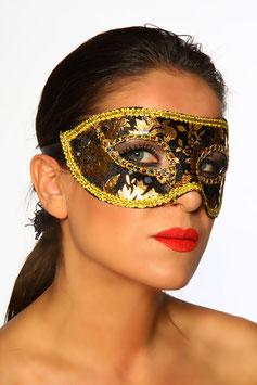 Maschera Venezia Style Nera e Oro |11850|