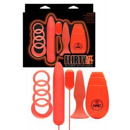 NMC Flirty Kit Set 8 Pezzi Assortiti Sex Toys di Coppia Anelli + Vibratori + Plug |0585980|