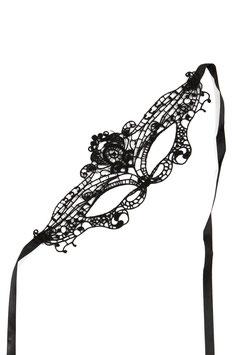 SOISBELLE Maschera per Occhi Venezia Style Nera in Pizzo Ricamato |EM-01083|