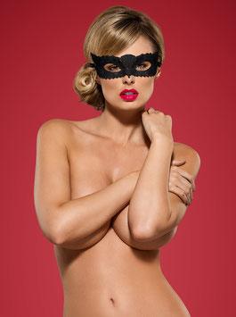 OBSESSIVE Black MaskA700 Maschera Per Occhi Nera Effetto Pizzo Floreale |OB-2776|