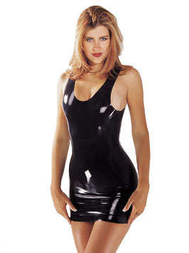 SHARON SLOANE Mini Abito Scollato Nero in Latex |SS-1905|