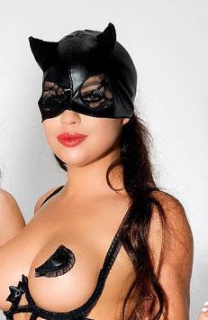 ME SEDUCE Maschera Viso con Orecchie Da Gatta Felina CatWoman in Vinile |MS-MK03|