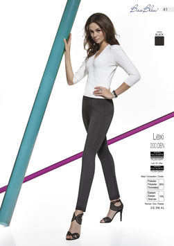 Bas Bleu - LEXI Leggings Stretch Neri 200 DENARI con Cuciture in Rilievo