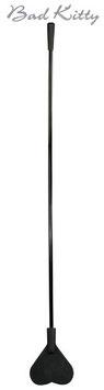 BAD KITTY Cane Crop Spanker Sculacciatore Nero Forma di Cuore 44 cm |2491249|