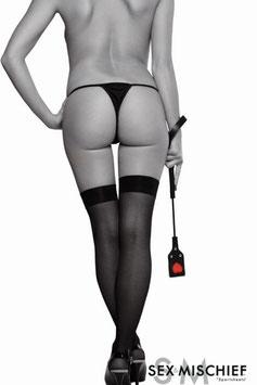 Sex & Mischief Frustino Sculacciatore 55 cm Nero con Cuore Rosso |SS760-40|