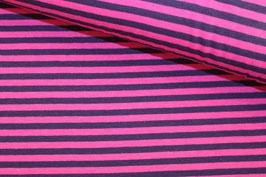 Jersey Streifen pink-dunkelviolett