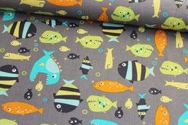 Baumwollstoff Michael Miller Piranhas