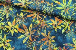 *Reststück 85cm *Baumwollstoff Art Gallery batik Cannabisblätter