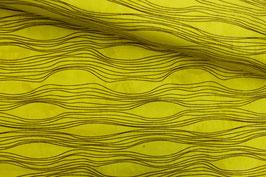 Baumwollstoff Anthology Fabrics Wellenlinien gelb
