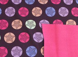 Softshell Sterne Aubergine-Pink