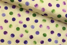 * Reststück 80cm* Baumwollstoff Marcus Fabrics bunte Punkte auf ecru