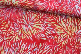 Baumwollstoff Adlico Dalien auf rot