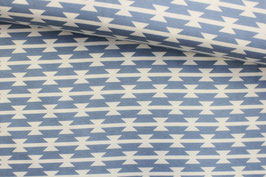 Jersey Tomahawk Stripe Cloud von Art Gallery Fabrics