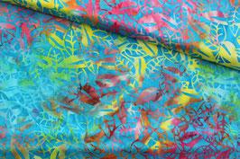 *Reststück 65cm*Baumwollstoff Anthology Fabrics batik Pflanzen 0,65m