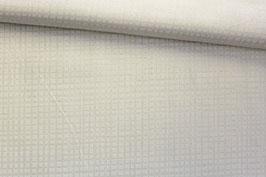 Baumwollstoff Karo weiß auf weiß