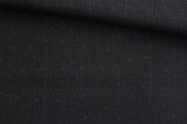 Baumwollstoff Batik schwarz-dunkelblau