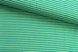 Jersey Streifen hellgrün-hellblau