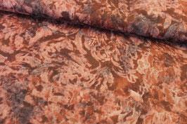 Baumwollstoff Marmor braun