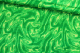 Baumwollstoff Batikoptik grün