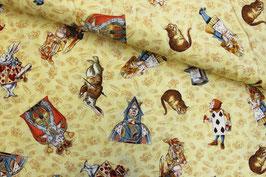 Baumwollstoff Alice in Wndlnd Quilting Treasures