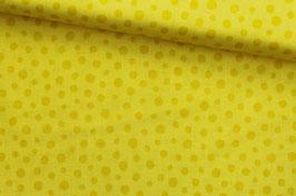*Reststück 80cm* Baumwollstoff Quilting Treasures gelb gepunktet