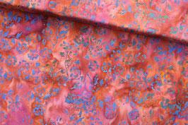 *Reststück 0,65m* Baumwollstoff Anthology Fabrics Batik blaue Blumen