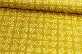 Baumwollstoff Michael Miller Block Flower gelb