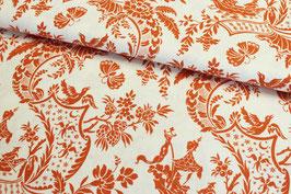 Baumwollstoff Anna Griffin Chinoiserie Collection orange