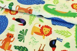 Baumwollstoff Wilmington Prints Rainforest Fun Dschungeltiere