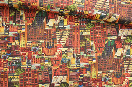 Baumwollstoff Quilting Treasures City Scapes-Sep