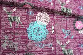 *Reststück 70cm* Baumwollstoff Art Gallery Indelible Doiland Gloss Plum