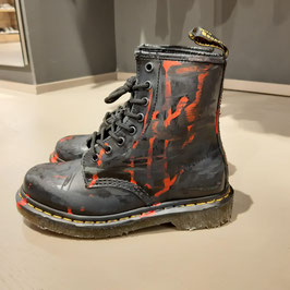 DR MARTENS CUSTOMIZZATE DESTROYED & DIRTY