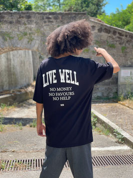 """T SHIRT """"LIVE WELL"""""""