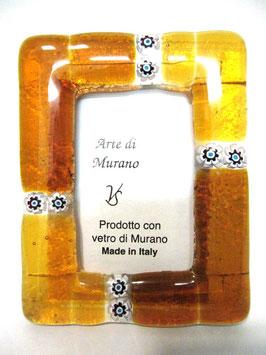 ベネチアンガラスフォトスタンド MURANO  S   AA3131 Orange