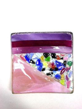 ベネチアンガラス飾皿A  VENEZIA     S  AA3307 Pink