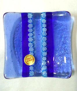 ベネチアンガラス飾皿A SERENELLA S         AA3082 Blue
