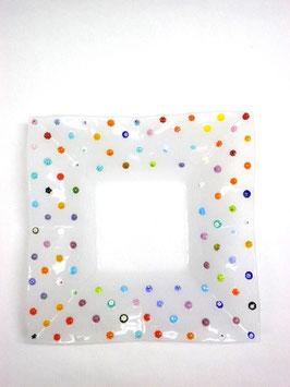 ベネチアンガラス飾皿B FREZZERIA L        AA3024 White