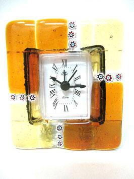 ベネチアンガラス置時計 MURANO S            AA3153 Orange
