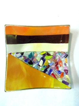 ベネチアンガラス飾皿A  VENEZIA     M  AA3308 Orange