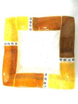 ベネチアンガラス飾皿B  MURANO M         AA3142 Orange