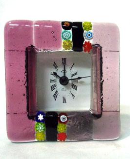 ベネチアンガラス置時計 CASANOVA S    AA3222   Pink