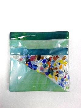 ベネチアンガラス飾皿B  VENEZIA     S  AA3311 Green
