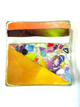 ベネチアンガラス飾皿A  VENEZIA     S  AA3307 Orange