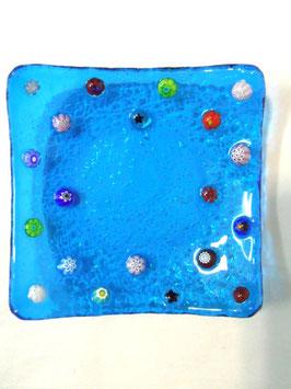 ベネチアンガラス飾皿A FREZZERIA S         AA3018 Blue