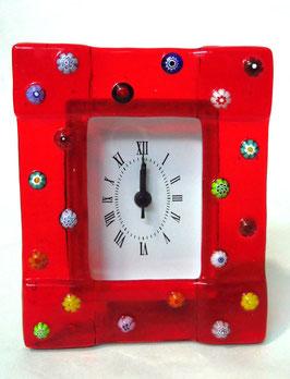 ベネチアンガラス置時計 FREZZERIA M            AA3030 Red