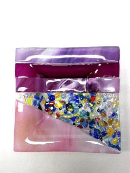 ベネチアンガラス飾皿B  VENEZIA     M  AA3312 Pink