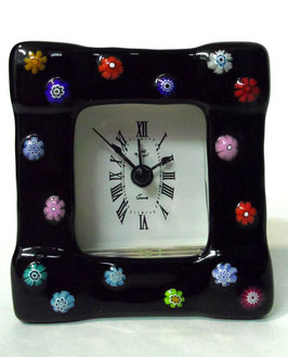 ベネチアンガラス置時計 FREZZERIA S            AA3029 Black