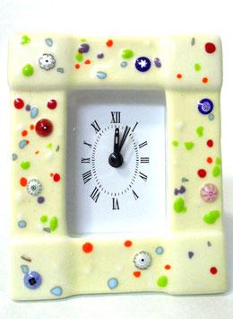 ベネチアンガラス置時計 PANTALON M    AA3205   White